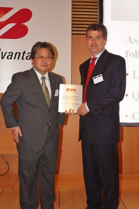 2013 KYB ADVANCE MANUFACTURING BEST SUPPLIER AWARD
